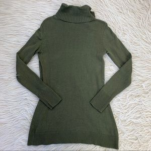 H by Halston Sweaters - H by Halston sweater tunic turtleneck olive green